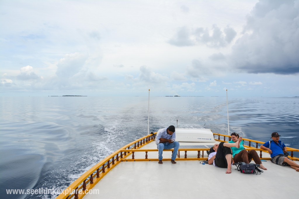 Maafushi ferry roof